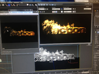 Fire simulation for my 2013 showreel