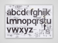 Typeface Development & Sketches