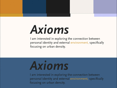 More Color Studies - Axioms