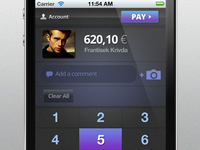 Free iPhone UI psd (cashier)