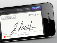 Signature screen for iOs app