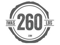 "Logo Design, ""I Was 260 LBS"""