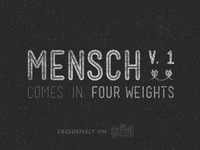 Mensch typeface available now