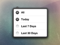 Free download of my iOS style popover