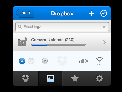 Dropbox iOS app 2.0 by name