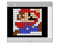 Pixel Art with Color Swatches