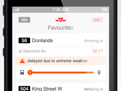 Quick & Dirty idea for bus arrivals app