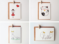 Greeting Cards for Mad Cat Studio