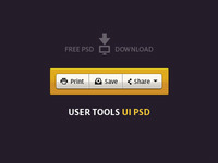 User Tools UI PSD