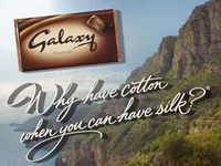 Hand writing for Galaxy chocolate ad campaign