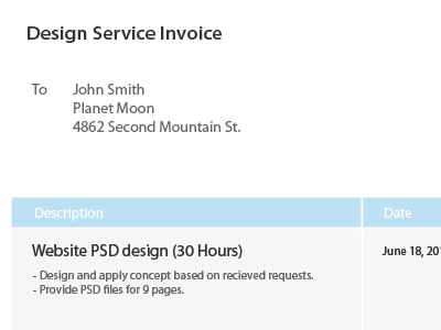 Download Freebie: Design Invoice