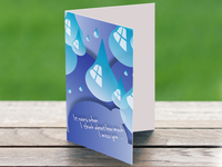 It Always Rains (friendship card)
