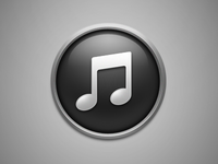 Dark iTunes icon