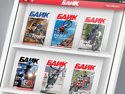 Bike Magazine Shelf for iPad