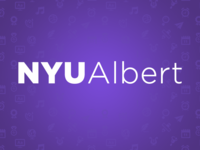 NYU Albert Splash Page