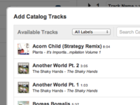 Add Catalog Tracks