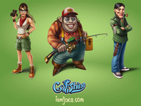 Go Fishing characters