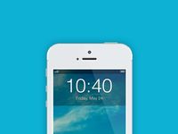 iOS 7 Lockscreen Clock Concept