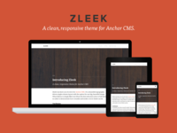 Introducing Zleek - theme for Anchor CMS