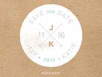 Wedding stamp icon - Save the Date