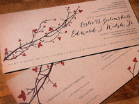 Rustic Fall Wedding Invite