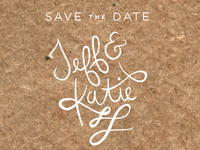 Save the Date on butcher paper