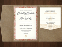 Mockup of Wedding Pocket Folder