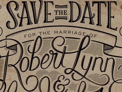 Save The Date Closeup