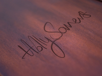 Holly Somers wood logo