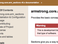 Armstrong.Core.Arm Sections   Armstrong.Core.Arm Sections V0.X D