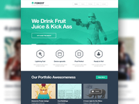 Portfolio Theme Homepage Design