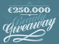 Beauty Giveaway Type treatment