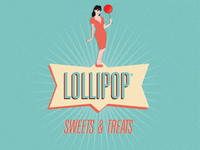 Lollipop cafe / shop logo