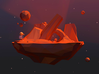 Mini Red Poly-Planet