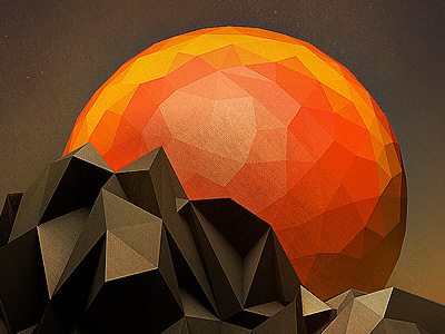 Low-poly-sun-set