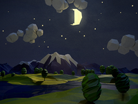 Low-Poly Nighty Night