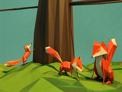 Dribbble-foxes