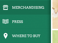 Green Textured Hamburger Menu