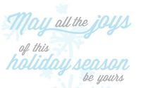 Holiday Card Typography