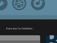 Every day I'm Dribbblin'