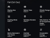 Vancouver Aquarium Website Icons