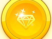 Gold Diamond Coin