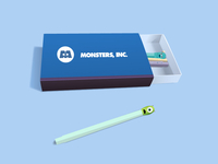 Monsters Inc. matchbox