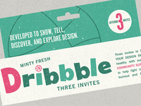 3 Minty Fresh Dribbble Invites