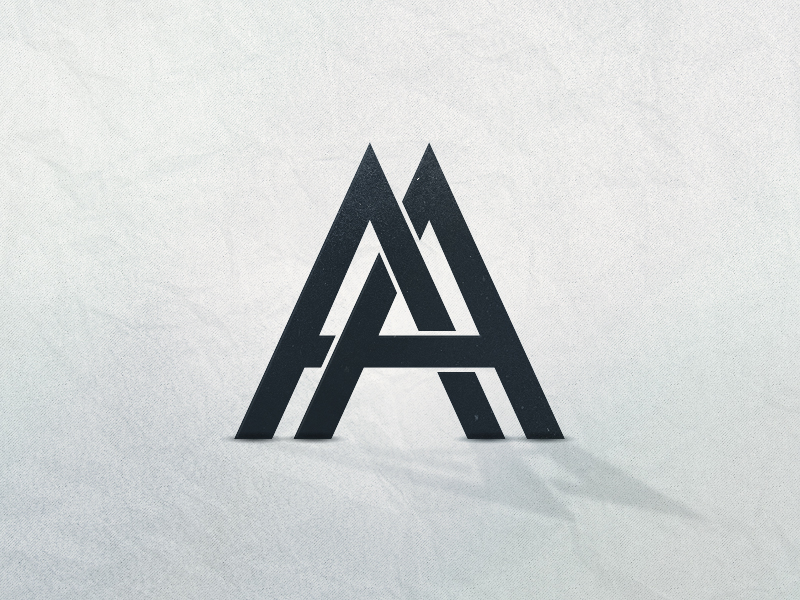 dribbble aa logo by anton andersson