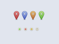 Map Markers   Online Light Things  Freebie
