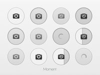Moment Camera Button UI