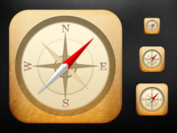 iOS Compass Icon - Scaled