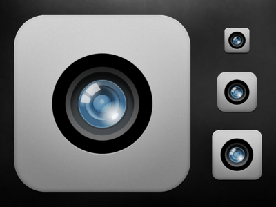 iOS Camera Icon - Scaled
