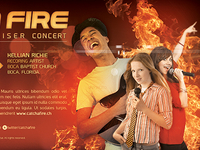 Catch A Fire Church Concert Flyer Template